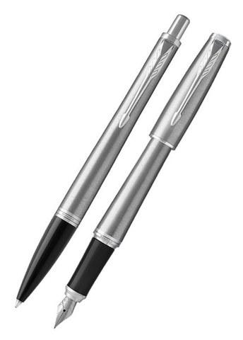 Подарочный набор: Перьевая и Шариковая ручка Parker Urban, Metro Metallic CT123