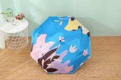 Женский облегченный зонт, с защитой от УФ, 8 спиц, разноцветный 02