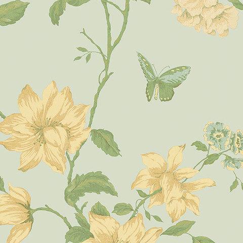 Обои Aura English Florals G34307, интернет магазин Волео