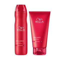 WELLA Brilliance Набор (Шампунь для окрашенных нормальных и тонких волос 250мл + Бальзам для окрашенных нормальных и тонких волос 200мл)