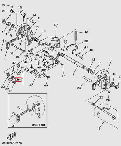 Тяга для лодочного мотора Т30 Sea-PRO (14-36)