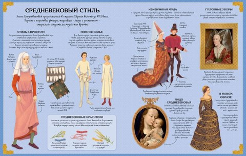 Роскошные наряды в Средние века. Супернаклейки