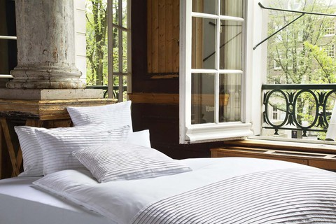 Пододеяльник 155х200 Christian Fischbacher Luxury Nights Pleats 701 белый