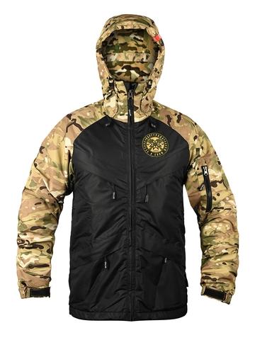 Куртка на молнии Варгградъ мужская sfagnum/чёрная (на флисе)