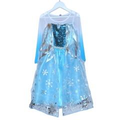 Платье принцессы Эльзы Холодное Сердце с синими манжетами