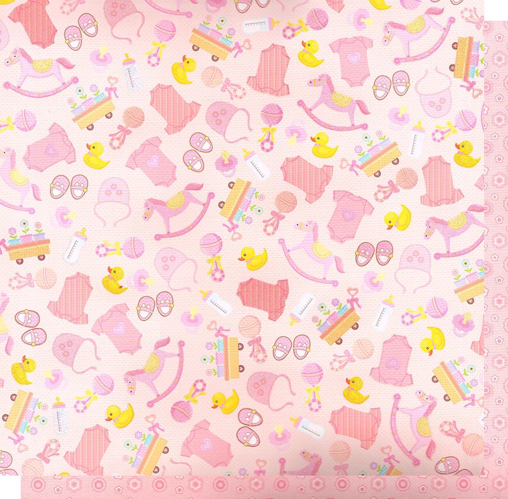 Бумага для скрапбукинга Sweet Baby девочка