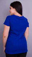 Дона. Жакет+блуза для женщин больших размеров. Электрик.