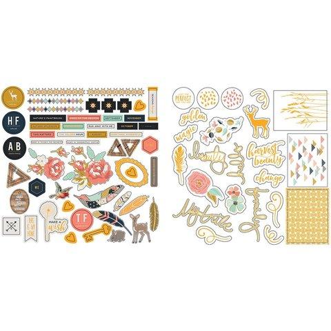 Высечки Golden Days Ephemera Gold Foil/Acetate
