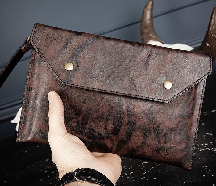 WL332-3 Вместительный клатч из кожи оригинального цвета фото 09