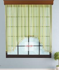 Короткий тюль-арка со стеклярусами. Клайм (лайм)