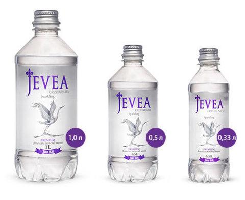 Вода Jevea Crystalnaya Sparkling, 0.33 л