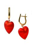Серьги Cuori (Сердце) красные