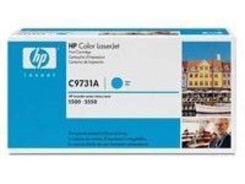 Картридж HP C9731A cyan - голубой тонер-картридж для принтеров HP Color LaserJet 5500/5500N/5500DN/5550/5550N/5550DN