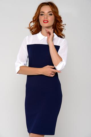 Эффектное офисное платье - футляр. Оригинальный фасон подчеркнет Вашу индивидуальность.(Длина: 44-89см; 46-91см; 48-93см; 50-95см; 52-97см; 54-99см)