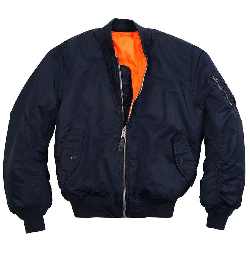 Куртка Бомбер - MA-1 Alpha (т.синяя - r.blue)