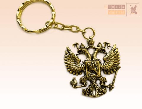 брелок Герб России 3.5 см (двусторонний)
