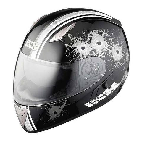 Шлем-интеграл IXS HX 1000 Shoot black-white-silver