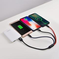 Аккумулятор WiWU WT-05 (5000 mAh, Dual USB) белый + кабель 3 в 1
