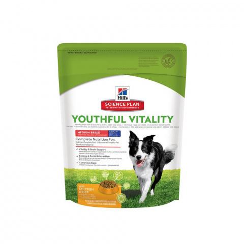 Hill's Youthful Vitality сухой корм для пожилых собак мелких пород (курица) 750г