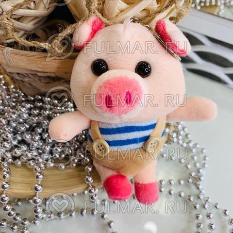 Поросёнок брелок Мистер Пиг Бежевый символ 2019 свинья
