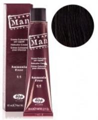 Оттенок 2 коричневый Безаммиачный профессиональный крем-краситель для мужчин Lisap Man Color 60мл