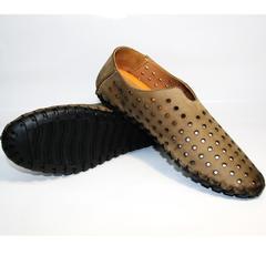 Летние туфли мужские смарт кэжуал стиль Luciano Bellini 107703 Beige.