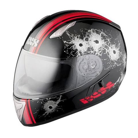 Шлем-интеграл IXS HX 1000 Shoot black-red