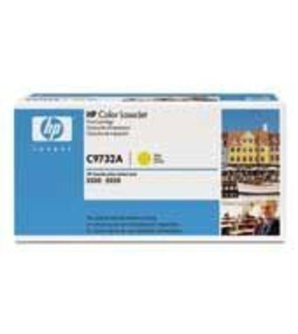 Картридж HP C9732A yellow - желтый тонер-картридж для принтеров HP Color LaserJet 5500/5500N/5500DN/5550/5550N/5550DN