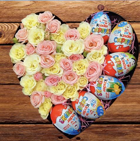 Розы и Kinder сладости #1656