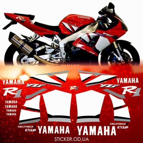 Набор виниловых наклеек на мотоцикл YAMAHA YZF-R1 2001