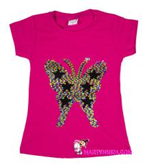 663 футболка бабочка радужная