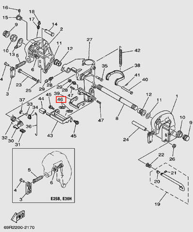 Пружина для лодочного мотора Т30 Sea-PRO (14-46)