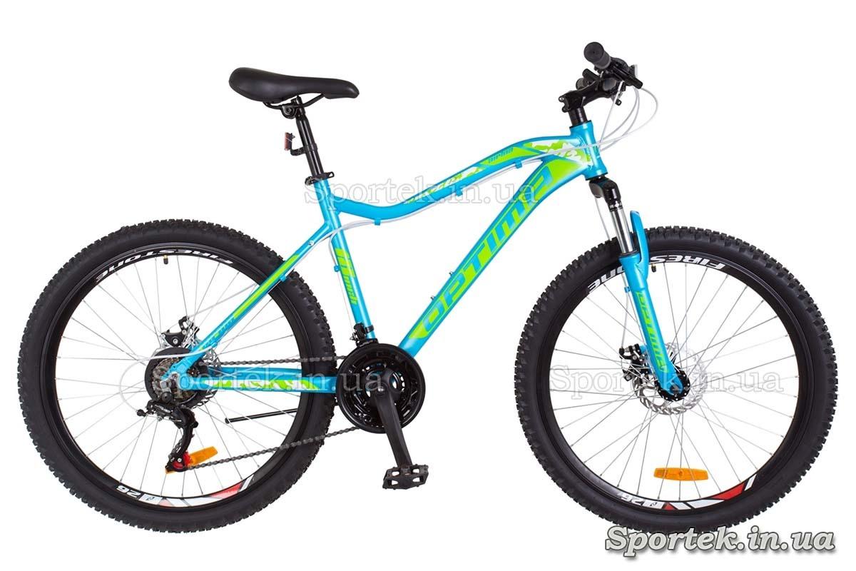 Горный женский велосипед Optimabikes Alpina DD - голубо-зеленый