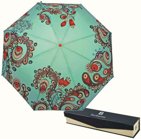 Купить онлайн Зонт складной Barbarina 2304 Menta giglio в магазине Зонтофф.