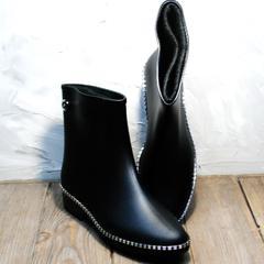 Модные резиновые сапоги женские Hello Rain Story 1019 Black