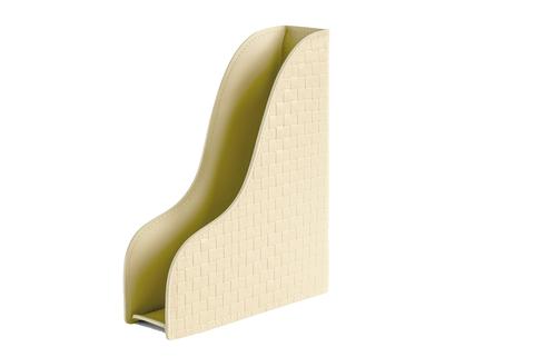 Лоток А4 вертикальный из кожи цвет TRECCIA/слоновая кость