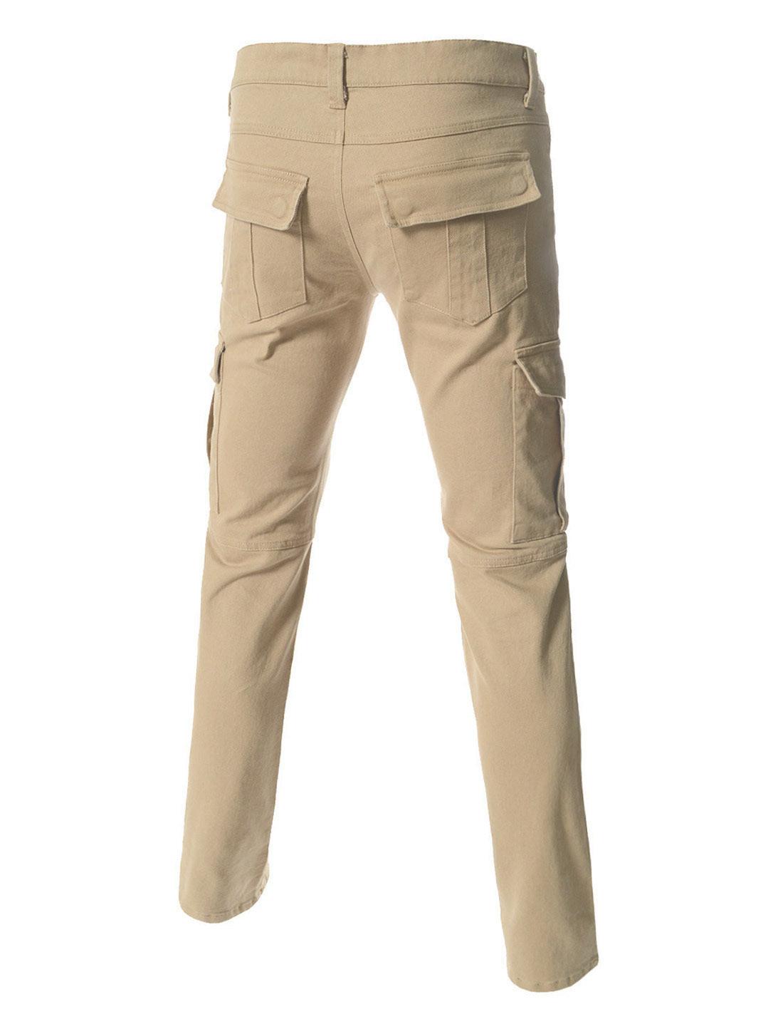 Мужские джинсы с накладными карманами