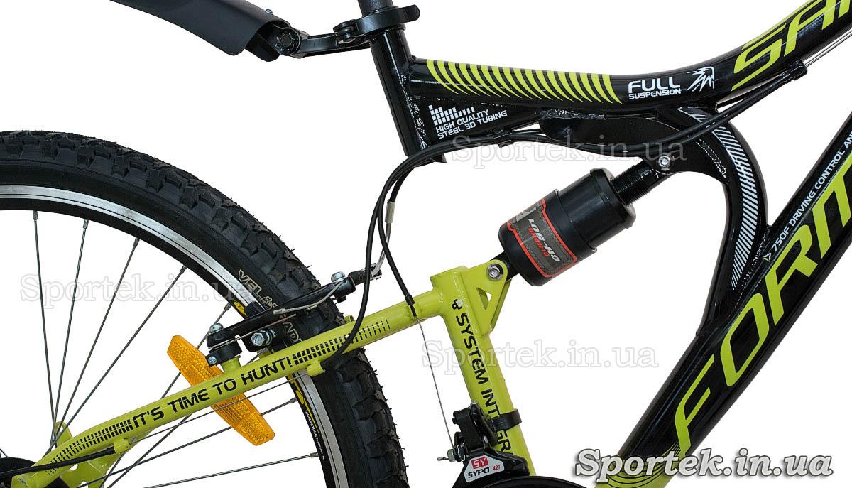 Задний амортизатор горного мужского велосипеда Formula Safari 2015 (Формула Сафари)