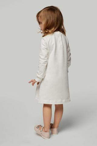 Платье белое с поясом