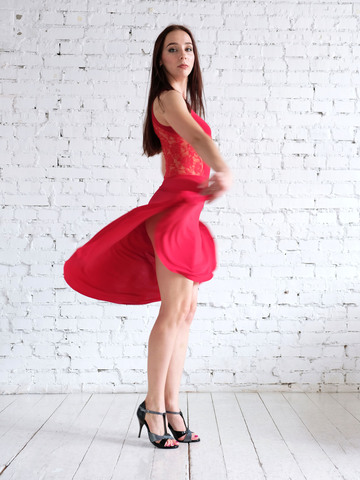 Платье для танцев с гипюром, арт. 220/1