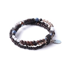 Браслет Nature Bijoux BB BLUES  С бусинами в три ряда