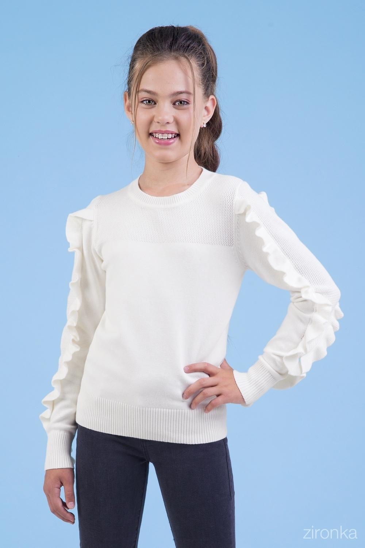 Джемпер молочный для девочки D2-76-9008-4