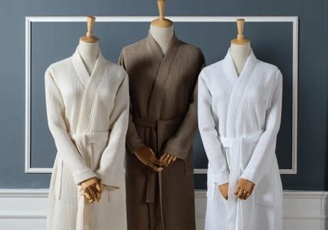 Элитный халат вафельный Long Island темно-серый от Casual Avenue