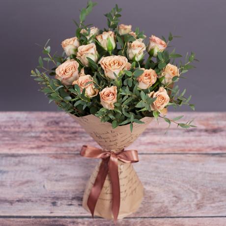 Букет Капучино средний 15 роз