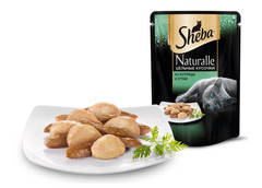 Sheba Naturalle Цельные кусочки из курицы и утки 80 гр