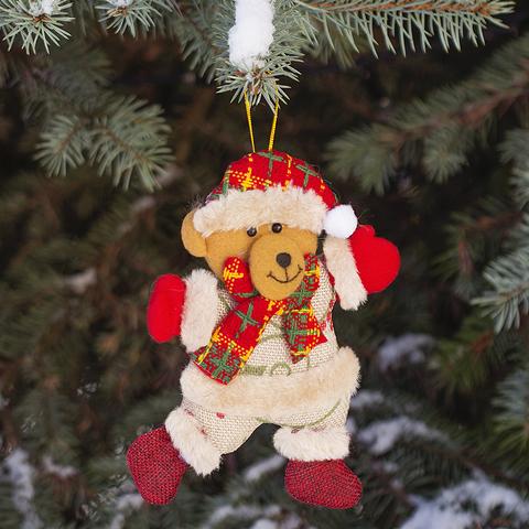 Игрушка елочная Bear текстил.