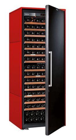 Винный шкаф EuroCave S Collection L красный сатин, сплошная дверь, максимальная комплектация