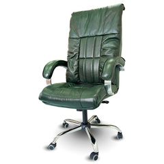 Офисное массажное кресло EGO BOSS ELITE малахит (натуральная кожа)