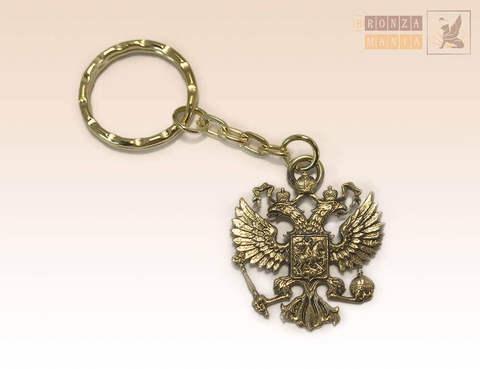 брелок Герб России - Двуглавый орел односторонний