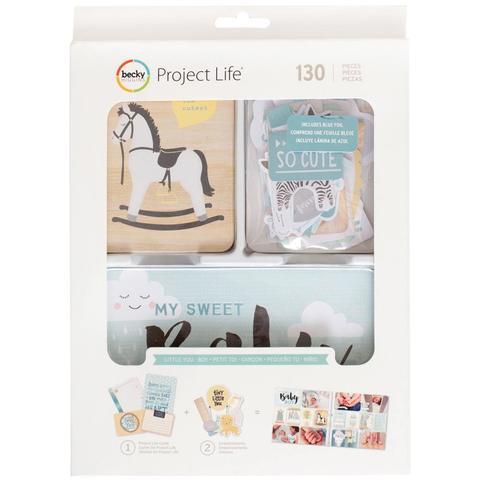 Kit набор карточек и украшений для Project Life- Little You Boys - 130шт